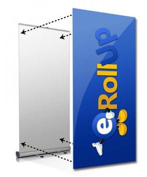 Bildvådsbyte bildbyte rollup medium Bildbyte Rollup Medium upp till 120 cm. Byt bild, inte hela systemet bildbyte rollup 120 300x360