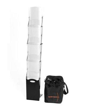brochureholder Brochureholder Pro med väska spennare broachure komplett 300x360