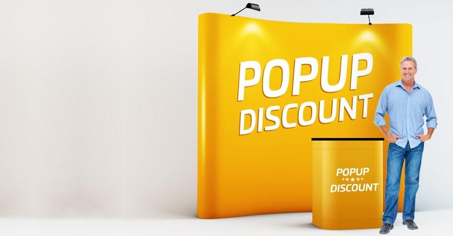 rollup Rollup och mässmaterial på 24 timmar till Sveriges lägsta priser. popup discount slide 3